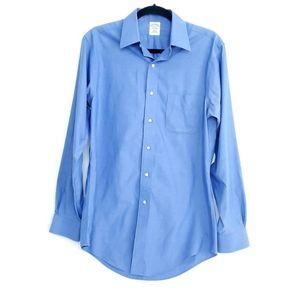 Brooks Brothers Button Down Blue Dress Shirt 15-34